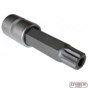 Бит М16 на вложка 1/2 100мм с дупка -  34810016T (JN 91101) - FORCE