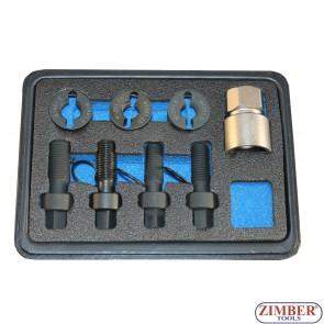 Комплект за възстановяване на резби за болтове на спирачни дискове и главини M12 x 1.25 , M12 x 1.5, M14 x 1.5- ZR-36WITK01 - ZIMBER TOOLS.