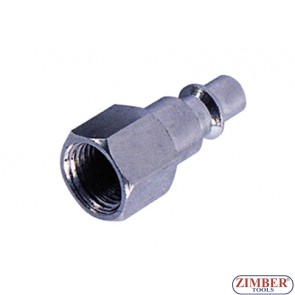 """Накрайник за въздух 1/4"""" ZDC-2 стомана - ZIMBER"""