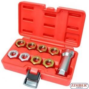 Плашки за ремонт на резби к-т 9ч-ZIMBER (ZL-7145)