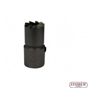 Фрезер за почистване гнездата на дизелови дюзи 1бр. - 17x19mm -  за BOSCH инжектори (MERCEDES CDI) - ZIMBER-TOOLS.