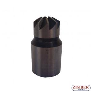 Фрезер за почистване гнездата на дизелови дюзи 1-бр. -17x17mm - за FIAT / IVECO и FORD - ZIMBER-TOOLS.