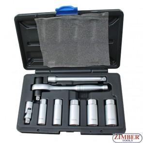 К-т ключове за свещи с динамометрична тресчотка - ZIMBER (ZR-36TLRSPS08)