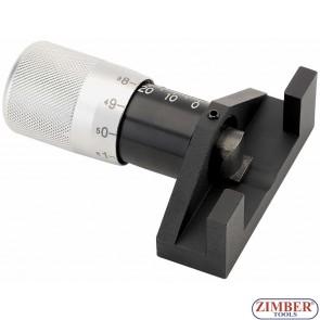 Устройство за измерване на опъна на ангренажния ремък, ZR-36UTG-B - ZIMBER TOOLS.