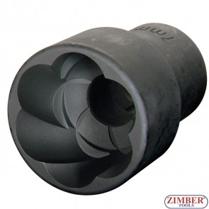 "Вложка екстрактор за отвиване на повредени болтове и гайки 17мм 1/2"", ZR-41PTSS120403 - ZIMBER TOOLS"