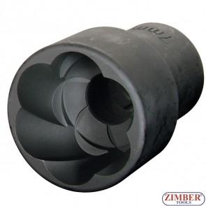 "Вложка екстрактор за отвиване на повредени болтове и гайки 21 мм, 1/2"" ZR-41PTSS120402 - ZIMBER TOOLS"
