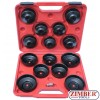 Комплект чашки за маслен филтър 15 части, ZT-04017 - SMANN-TOOLS.