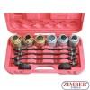 Универсален комплект за монтаж и демонтаж на селенови втулки, тампони, лагери, семеринги и др. 26 части (ZT-04803) - SMANN TOOLS.